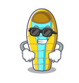 super cool sleeping bad character cartoon vector image