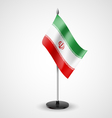 Table flag of Iran vector image vector image