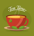 tea time related vector image