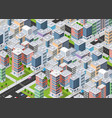 transportation city streets intersection with vector image