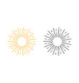 two black and yellow sun rays in flat design on vector image vector image