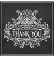 Vintage card with lettering Thank you vector image vector image