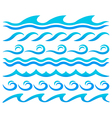 Water waves design elements set