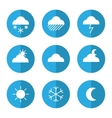 Weather icon set with clouds vector image