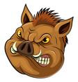 wild boar head mascot vector image
