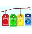 Christmas Sale Tag Set vector image
