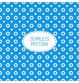 Geometric blue seamless polka dot pattern with vector image