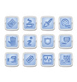 application icon set vector image