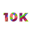 10k concept retro colorful word art