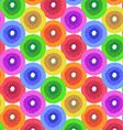 Abstract Flower Background in Shades of Rainbow vector image vector image