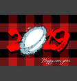 Abstract number 2019 and a rugby ball from blots