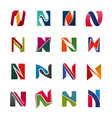 alphabet letter n business icons vector image vector image