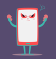 Angry Cell Phone Tearing a Heart Apart vector image vector image