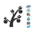 apple tree icon with free bonus vector image vector image