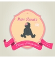 Baby shower invitation with baby girl vector image vector image