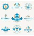 badges and logos set beer festival oktoberfest
