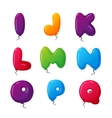 Balloon alphabet set vector image vector image
