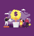 banking and finance flat style design vector image