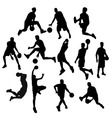 Basketball Player Silhouette vector image vector image