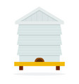 bee hive flat material design isolated object on vector image
