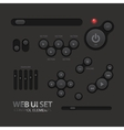 Black Web UI Elements Buttons Switches vector image vector image