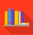 bookstore icon flat style vector image vector image