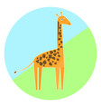cartoon colorful giraffe icon vector image vector image