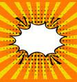 cartoon comic speech bubble in pop-art style vector image vector image