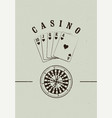 casino label logo badge emblem sign poster vector image vector image