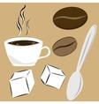 coffee attributes vector image vector image