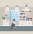 corridor office with businessman sitting vector image