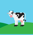 cow color cartoon vector image