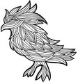 decorative graphic with a bird vector image vector image