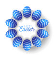 easter egg banner card with eggs laid out vector image vector image
