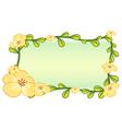 Flower plant frame design vector image