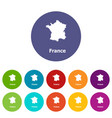 france map icon simple style vector image