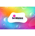 fun liquid color background with bubbles fluid vector image vector image