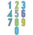 Funky stripes numbers set vector image vector image