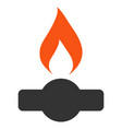 gas flame flat icon vector image vector image