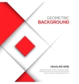 Geometric red 3D background vector image vector image