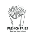 hand drawn french fries icon vector image vector image