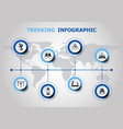 infographic design with trekking icons vector image vector image