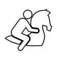 jockey in horse silhouette vector image