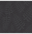 Jungle leaf seamless black pattern vector image vector image