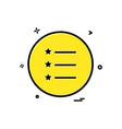 list icon design vector image vector image