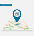 location icon pin on map mobile app cafe vector image vector image