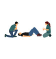 medical exercise how to help patient first aid vector image vector image