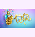 modern trendy golden metallic shiny typography vector image