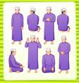 muslim praying postion vector image vector image