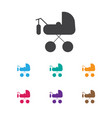 of baby symbol on buggy icon vector image vector image